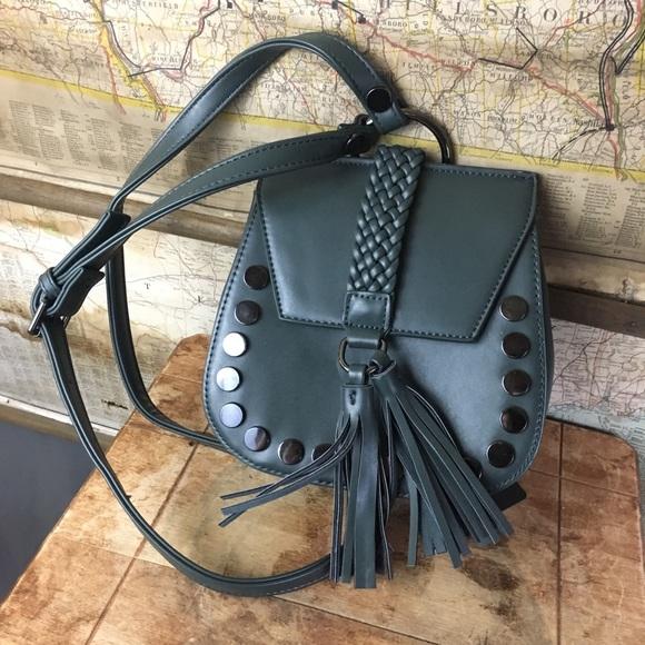 eb1e0a4d2c25 Lionel Teal Tassel Crossbody Handbag